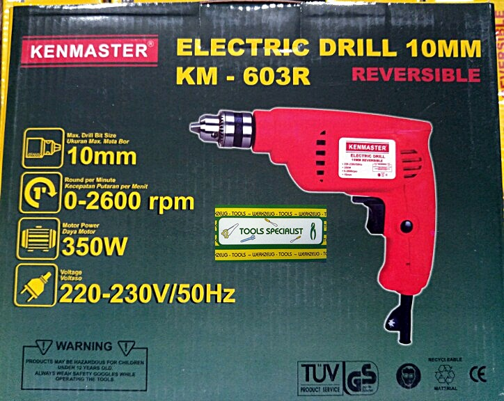 Kenmaster Bor Listrik 10mm KM-603R Reversible