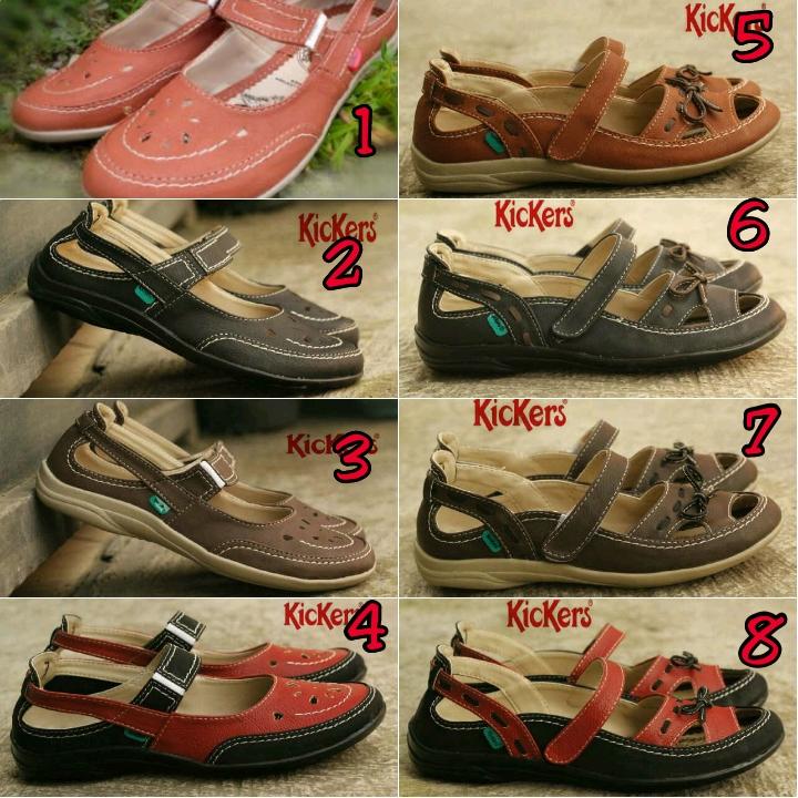 Jual Sandal Sepatu Wanita Kickers Women Coklat