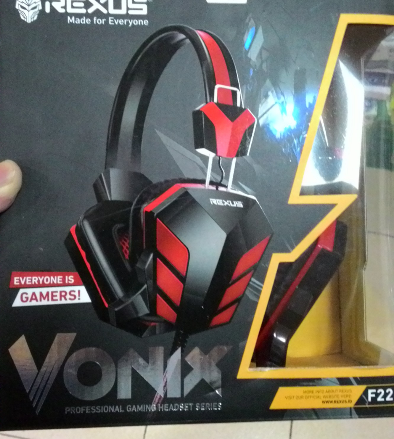 Rexus Headset Gaming F 22 Merah Daftar Update Harga Terbaru Indonesia F22 Headphone Source Jual
