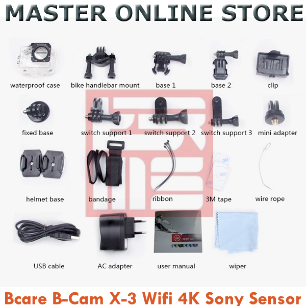 Jual Bcare B Cam X 3 Video Action Camera Black 16MP WiFi