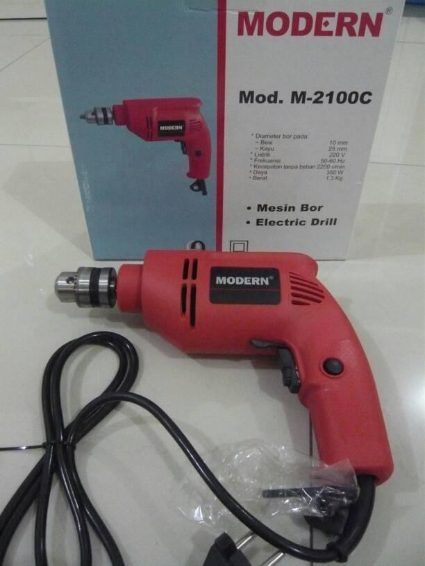 Mesin Bor Drill Modern SIM-2100C Untuk Kayu, Besi, Baja Ringan