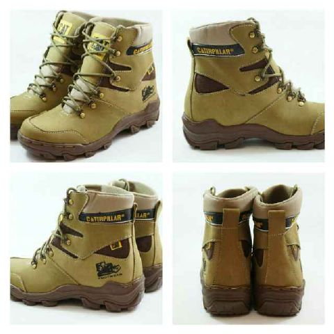 sepatu boot caterpillar pajero tan safety Murah