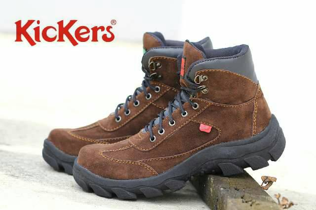 kickers tracking safety brown suede Murah