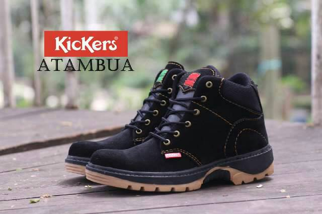 kickers atambua black safety Murah