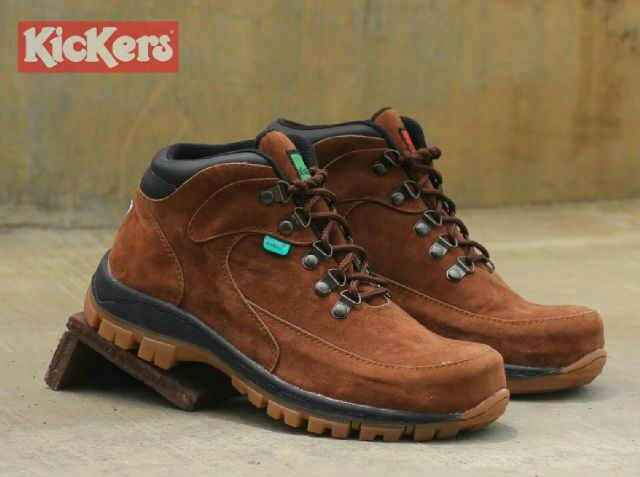 sepatu kickers dolphin brown safety Murah