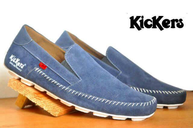 sepatu kickers maxi biru suede Murah