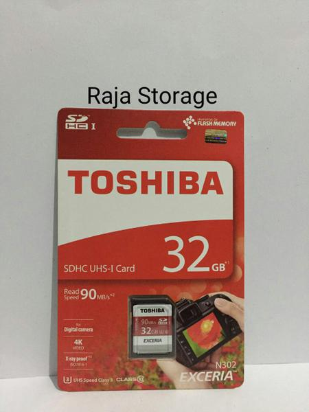 Toshiba 32GB SDCard SDHC Exceria 90MB / S Class 10