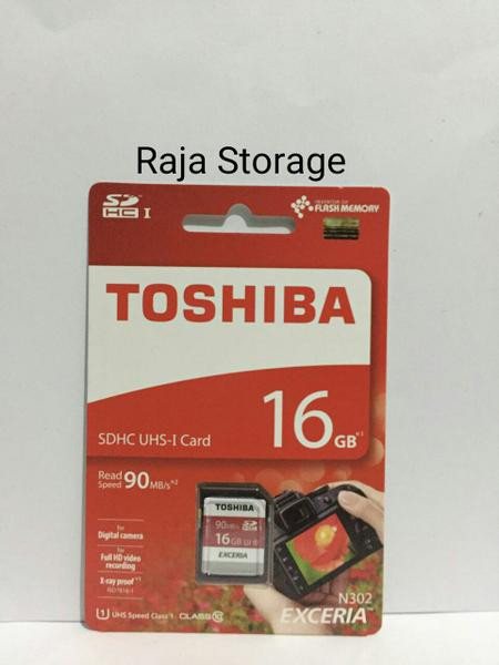 Toshiba 16GB SD Card Exceria 90MB / S Class 10 NEW And ORIGINAL 100%
