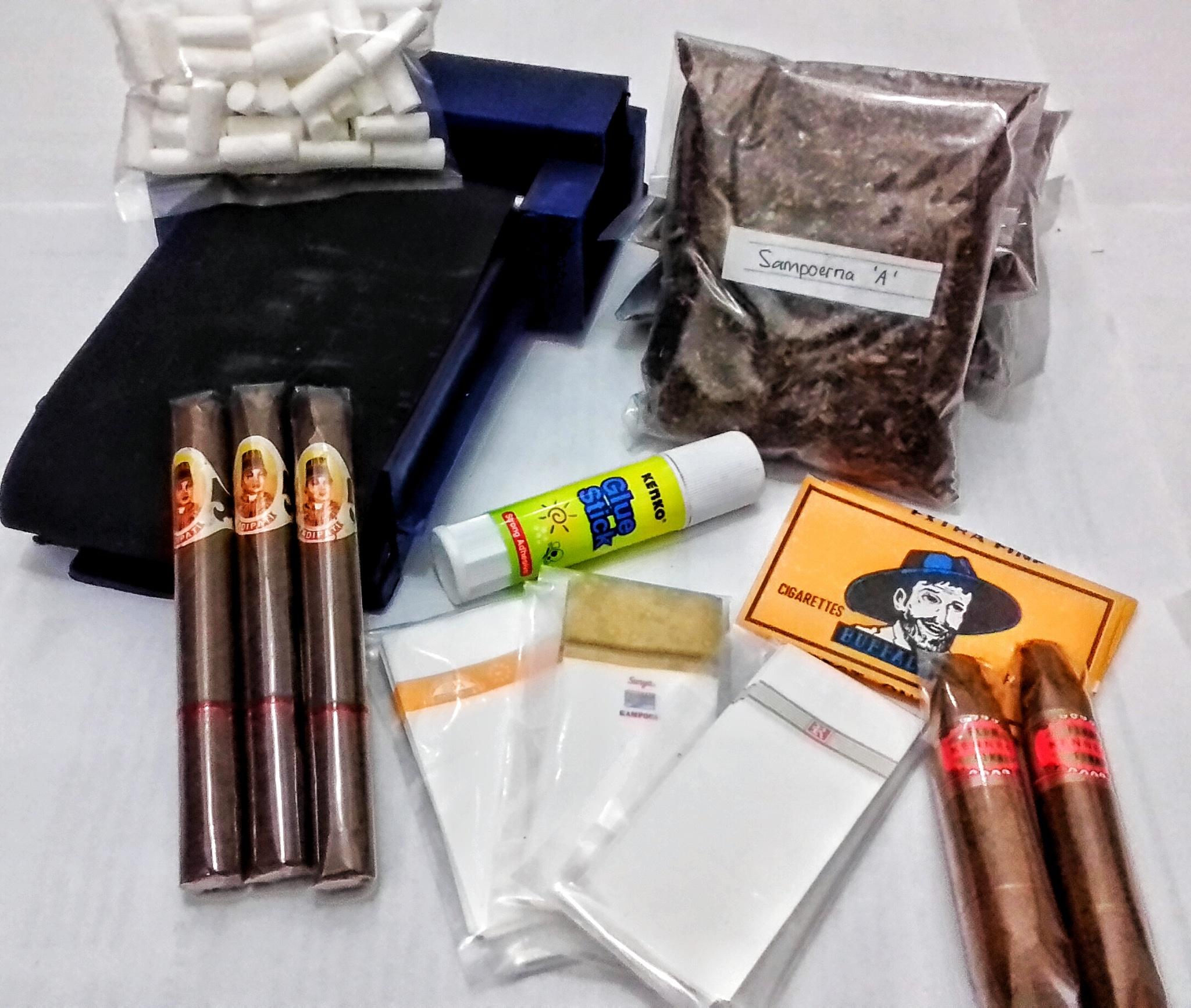 Jual Paket Alat Linting Rokok Besar Cerutu Lokal Cigar Tobacco Atau Mesin Tokopedia