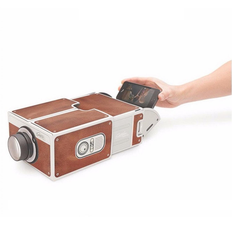 Proyektor Mini Portable Cardboard Smartphone Projector