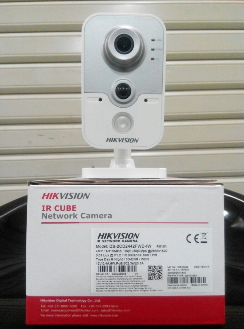 ip kamera hikvision cube 4mp ds 2cd2442fwd iw