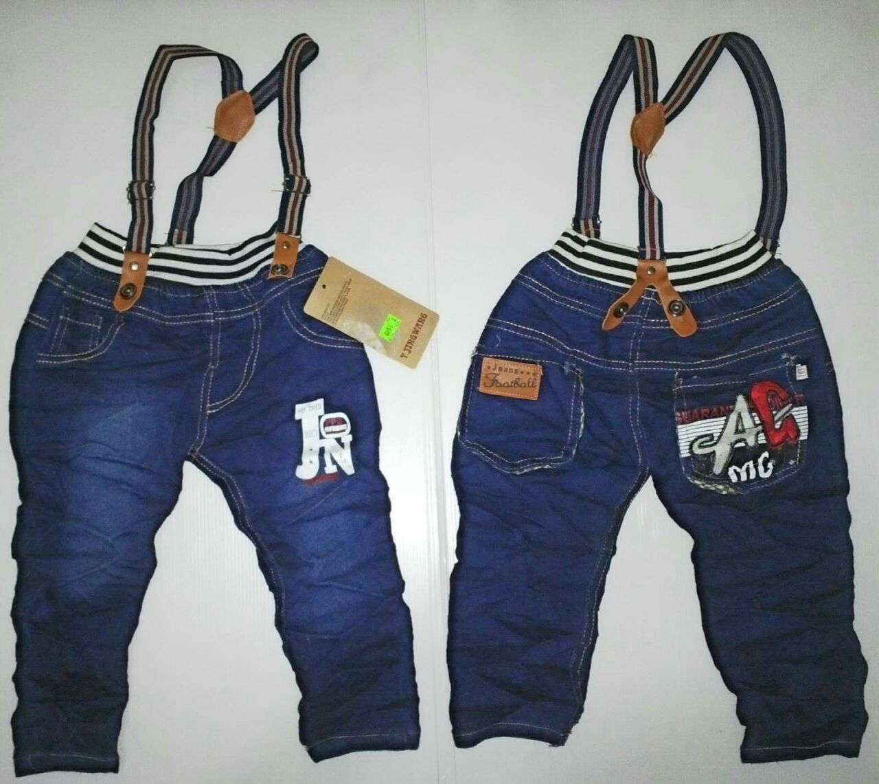 Celana Jeans Panjang Anak Laki Tali Suspender