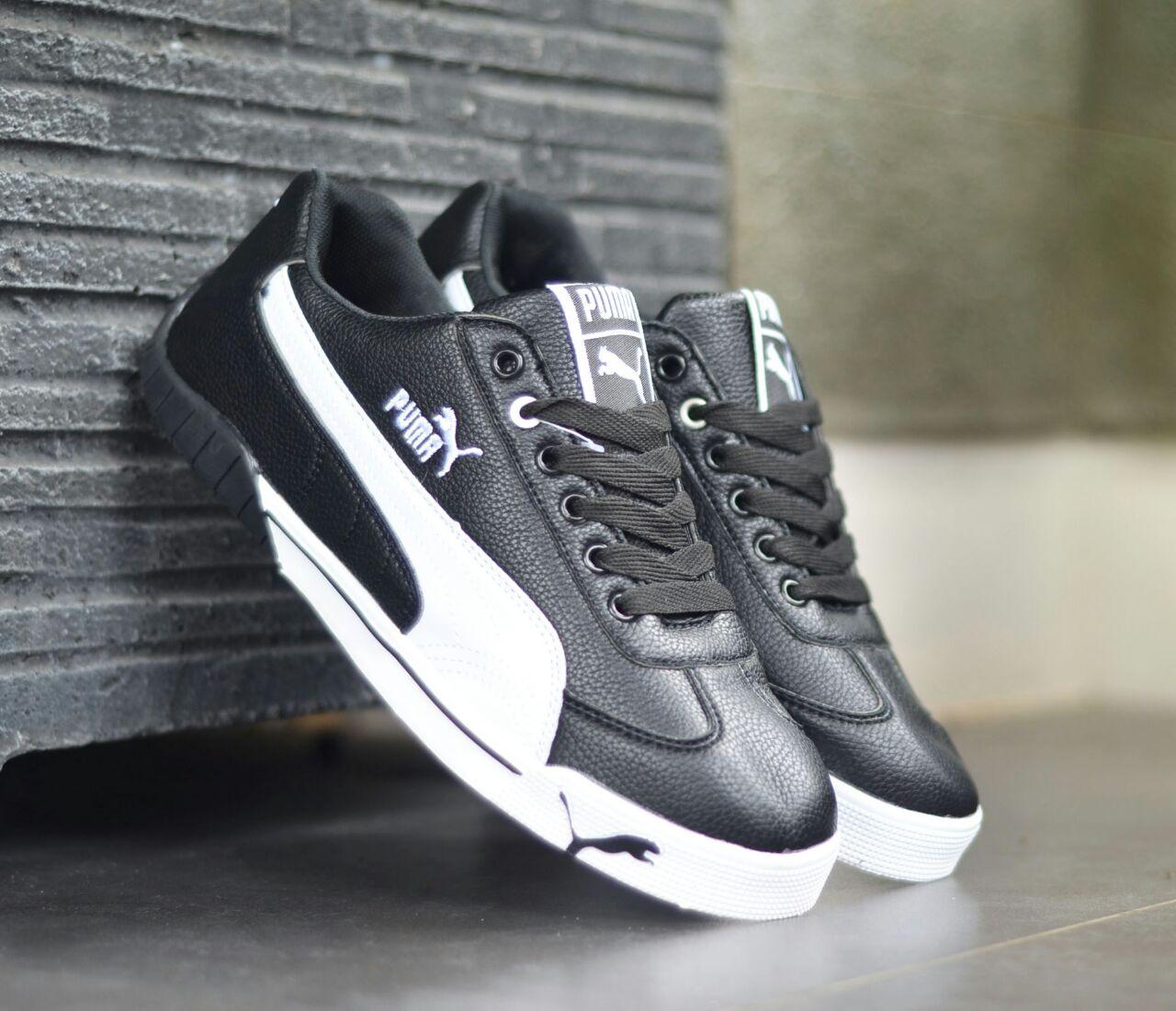 sepatu casual puma ferrari leather hitam putih original 7acd50ce33