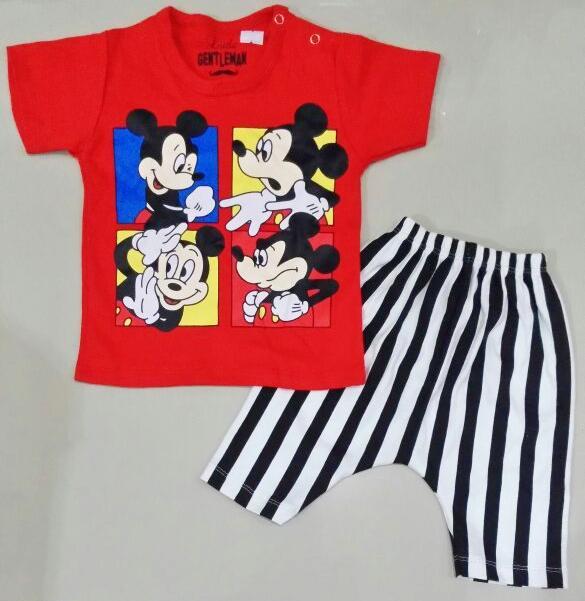 STKDK158 - Setelan Anak Kecil Mickey Action Red Murah