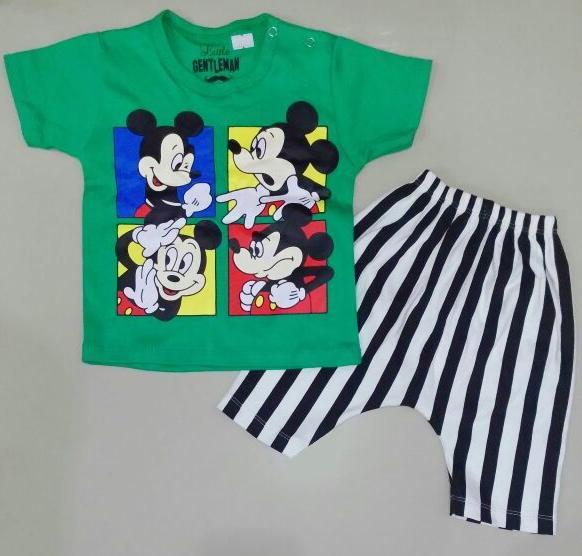 STKDK160 - Setelan Anak Kecil Mickey Action Green Murah