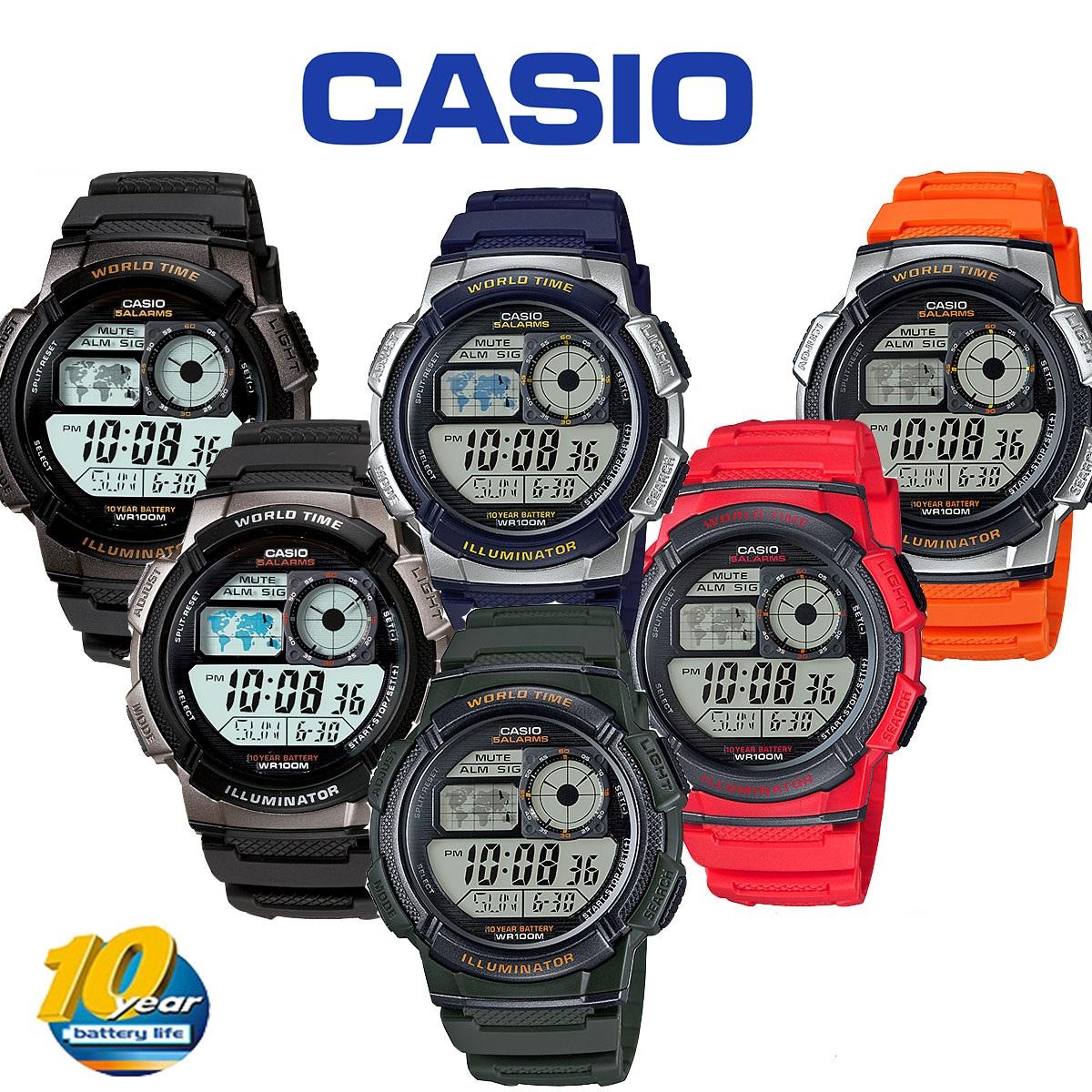 CASIO ORI AE1000W AE1000-W AE-1000W AE-1000-W 1A 2A 3A 4A 1B 2B 3B 4B