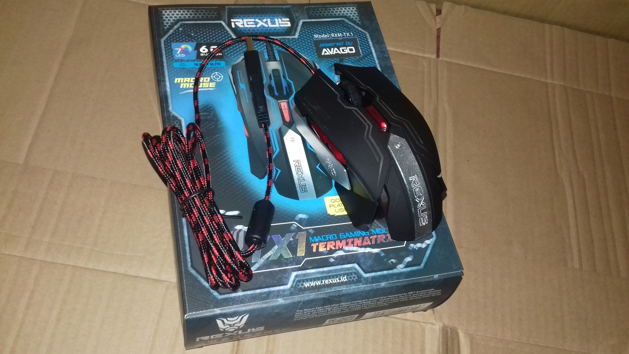 Rexus Mouse Gaming Tx3 Daftar Harga Terlengkap Indonesia G4 Jual Macro Tx 1 Terminatrix 7 Led 6d Buton 4000dpi Aska Computech