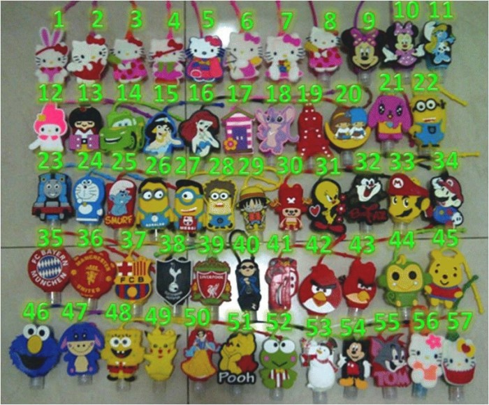 Handgel Karakter Hello Kity Hand Sanitizer Minion Stitch Pooh Rilaku