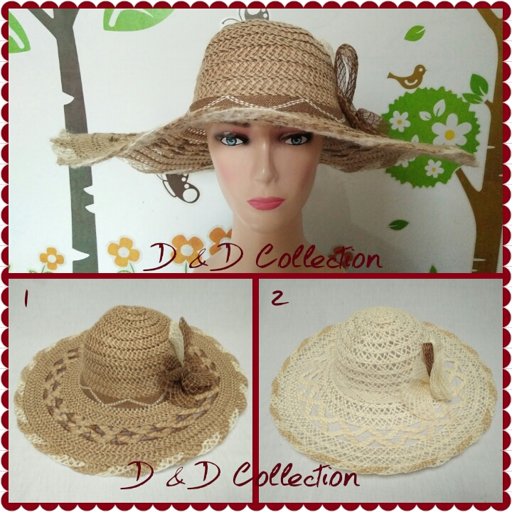 Jual Topi pantai impor cantik - D   D Hat Collection  9d664b9f2e