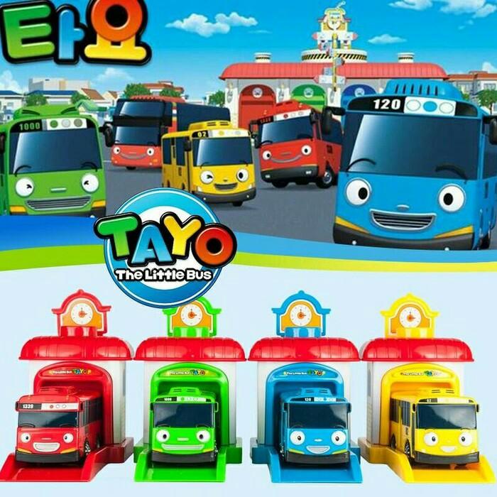 Jual MAINAN TAYO LITTLE BUS + GARASI - KINGDOM TOYSS