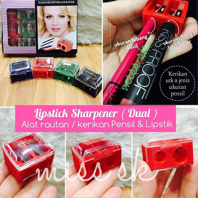 Alat Kerikan / Rautan Lipstik Dual (Lipstick Sharpener)