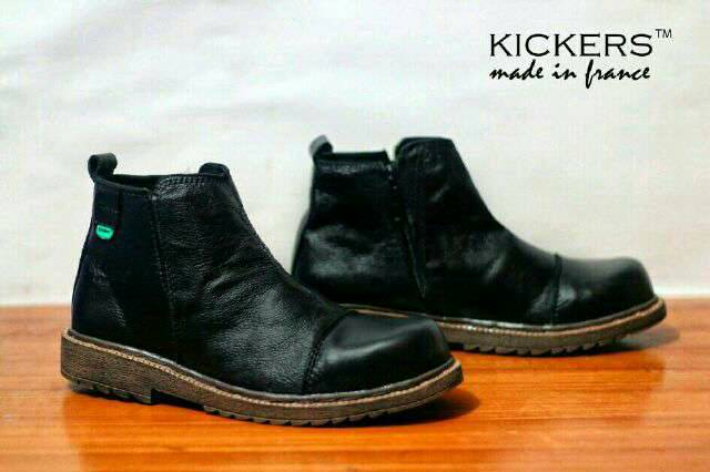 kickers BRV kulit safety black Murah