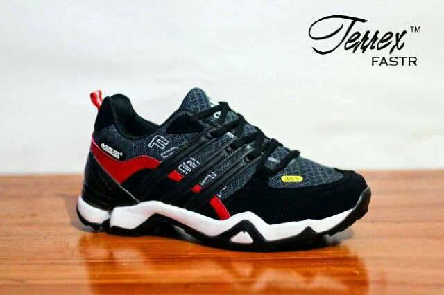 adidas terrex fastr black red Murah