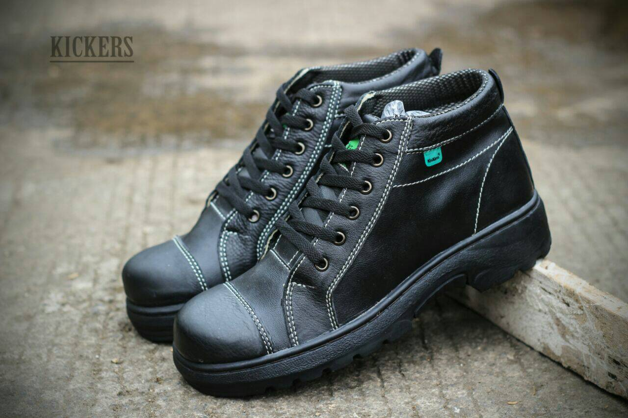 kickers track safety high black Murah