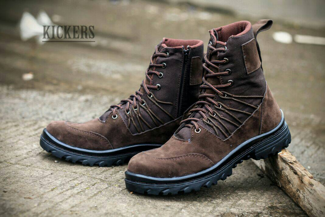 kickers delta safety suede brown Murah