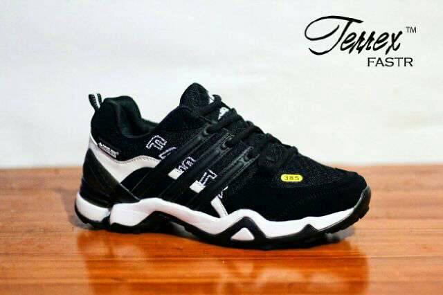 adidas terrex fastr black white Murah