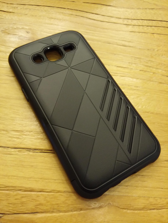 Samsung Galaxy J2 2016 Shark Stripe Elegant Dual Layer Armor Case