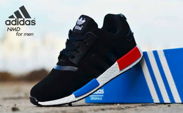 adidas NMD men black Murah