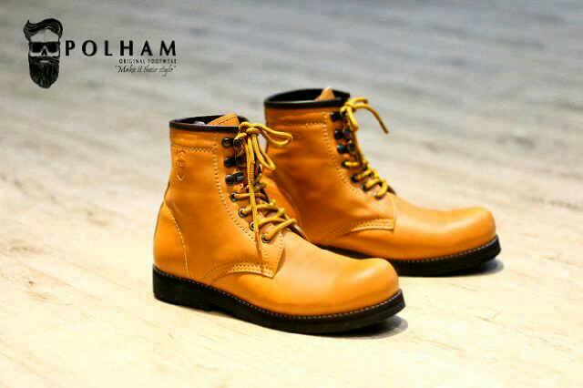 sepatu boot safety polham verre tan original Murah