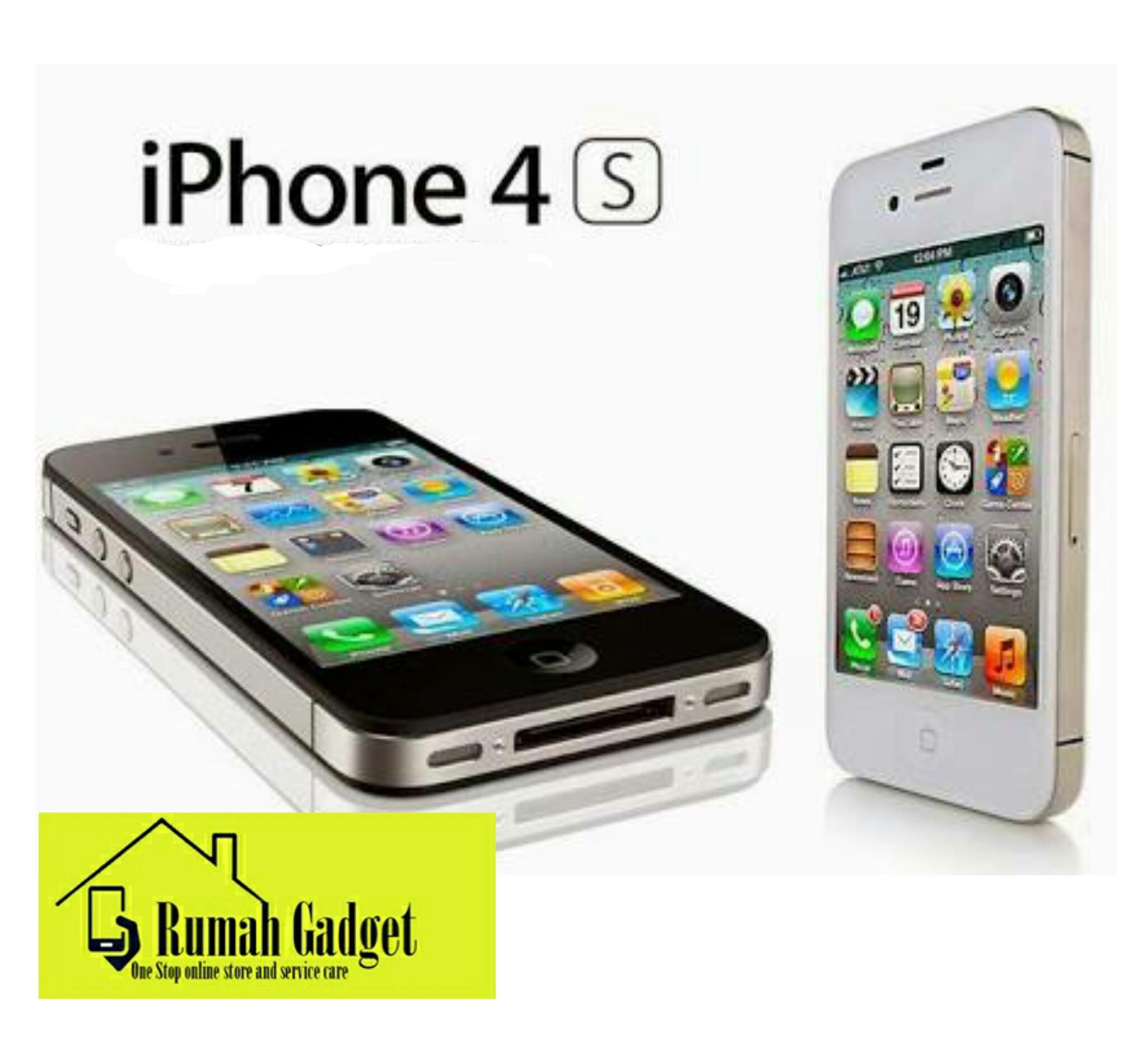 Jual Iphone 4s 32gb Black White Brand New In Box Garansi Platinum 1 Years gad geex