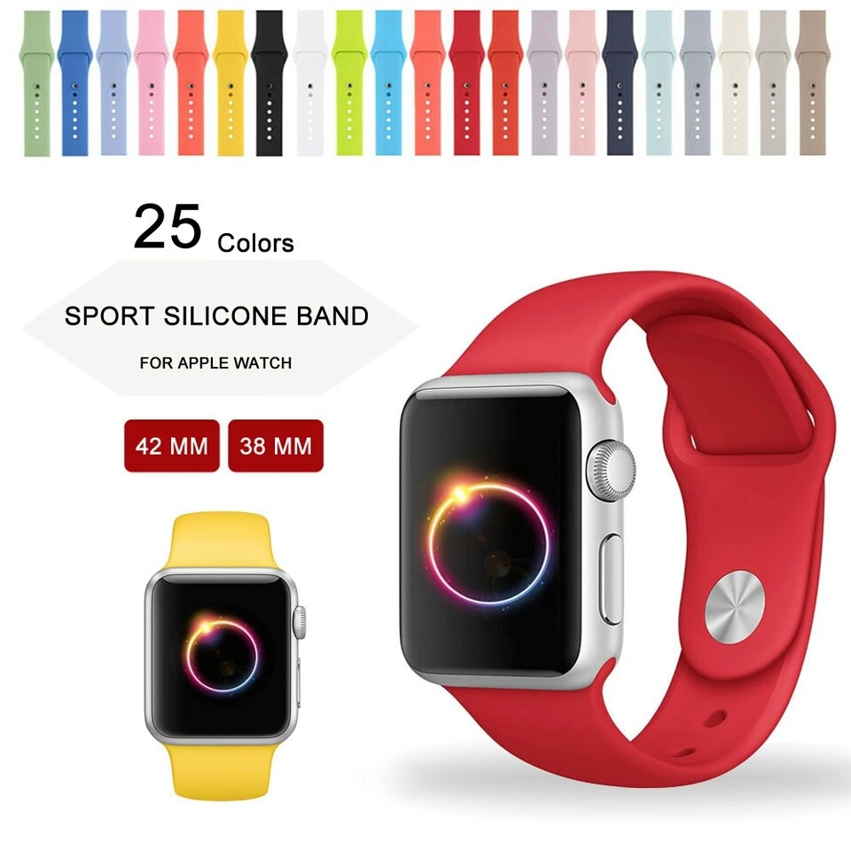 Sport Strap Band for Apple Watch iWatch 38 mm rubber