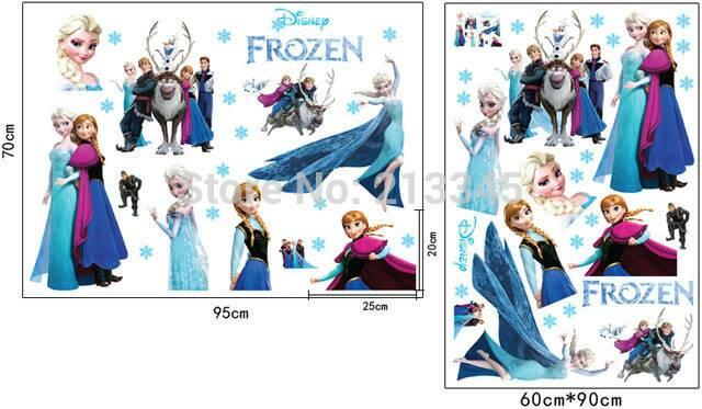 jual stiker dinding wall frozen princess elsa anna olaf