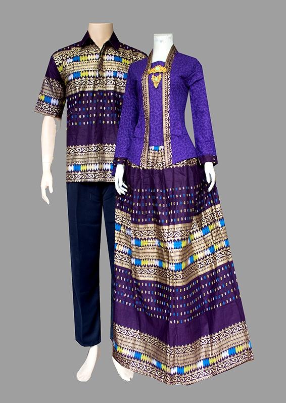 Couple batik sarimbit kebaya pesta baju pasangan seragam D1981