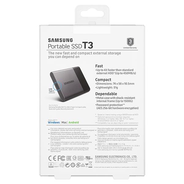 Harddisk SSD Samsung T3 250GB Eksternal / Portable