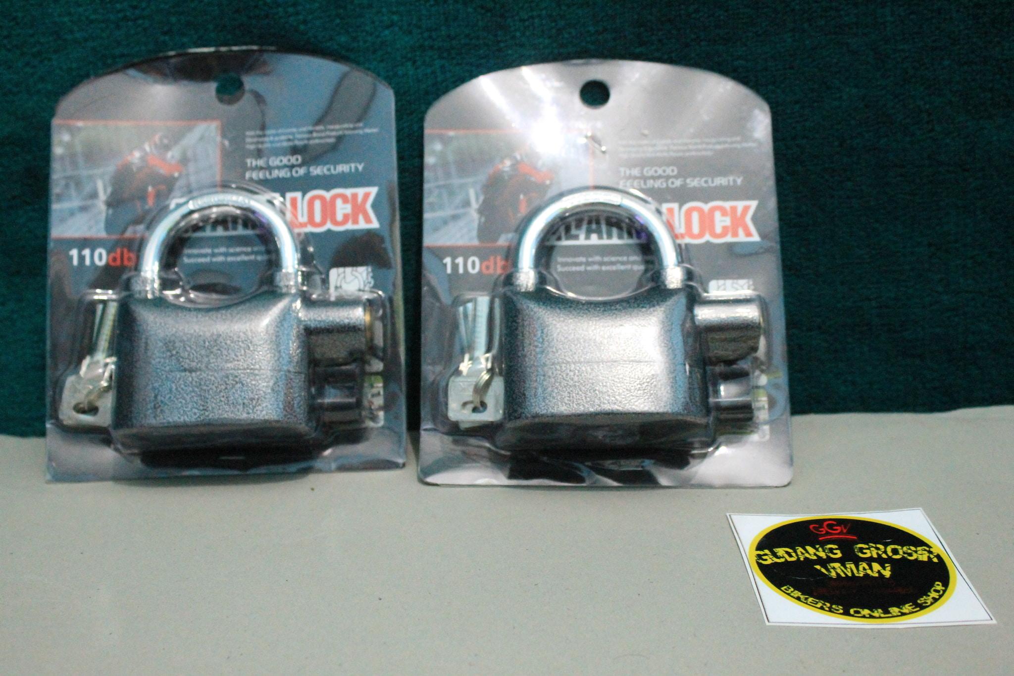 Gembok Alarm Motor, Gembok Anti Maling / Gerbang Rumah / Gembok Sepeda
