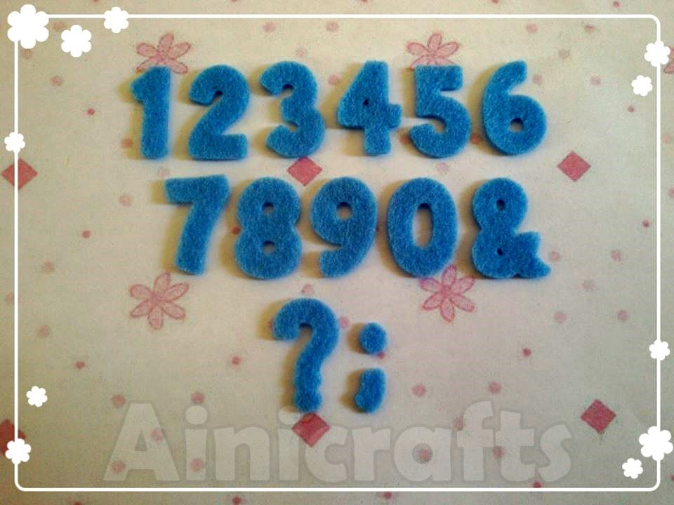 Aplikasi Flanel Alfabet Model 2 - Angka Set 0 - 10
