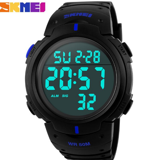 Jam Tangan Digital LED Pria Cowok Men Sport Watch SKMEI DG-1068