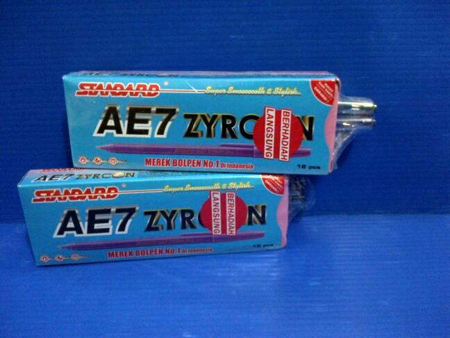 BOLPEN AE7 ZYRCON BLACK 12PCS free 2 STANDARD