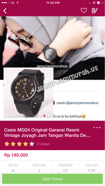 Casio MQ24-1B2 Original Black Jam Tangan Wanita Dewasa Remaja Anak