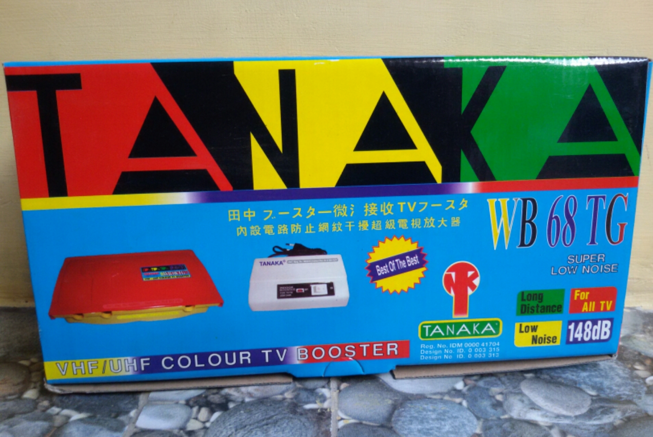 Booster Antena Tanaka WB 68 TG Original Super Low Noise