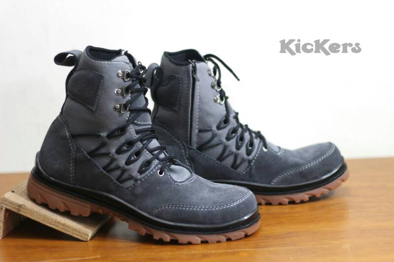 kickers delta safety sleting suede grey Murah