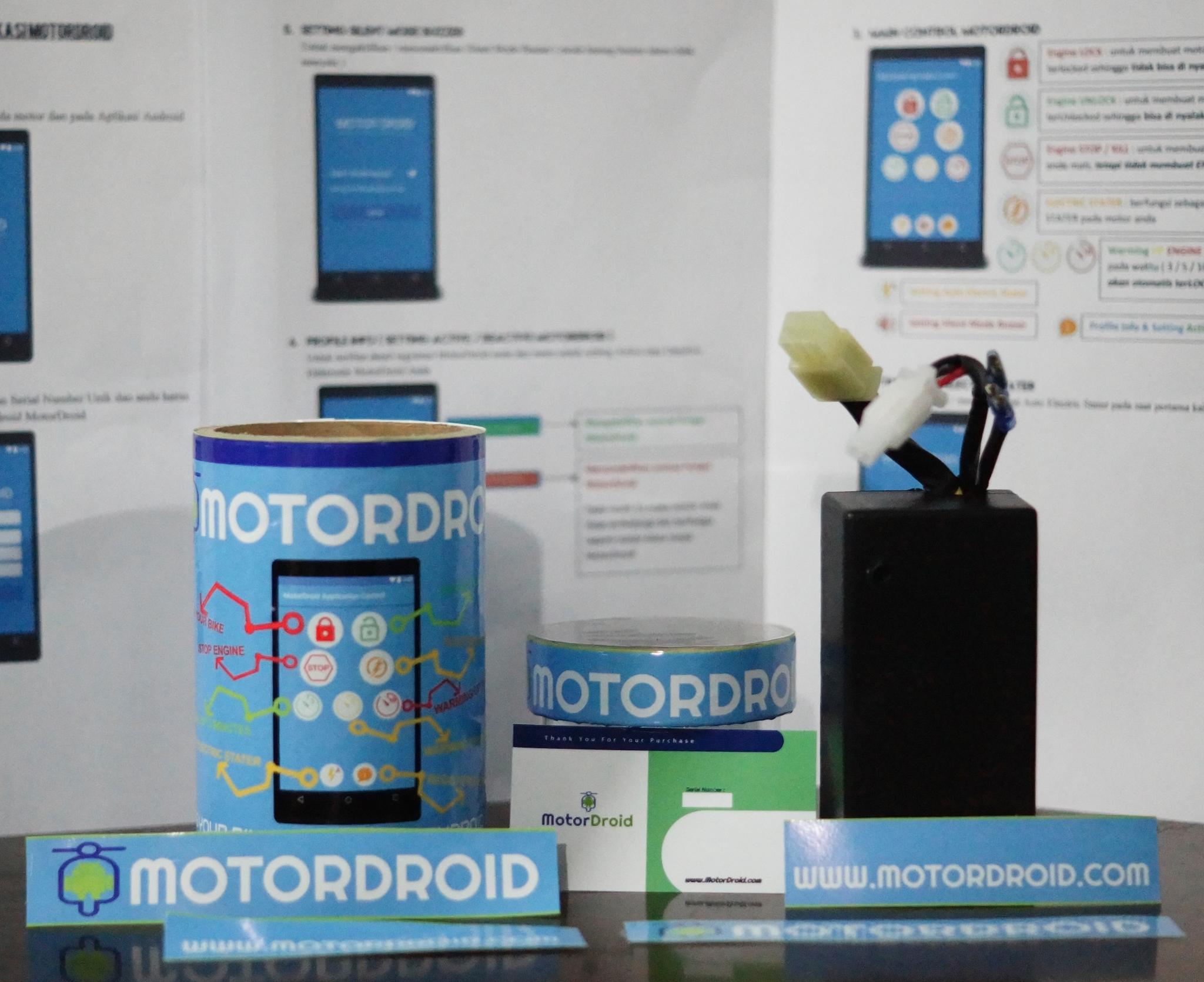 Jual Motordroid Alarm System Dengan Remote Control Menggunakan Hp Kunci Electric Wireless Sepeda Android Tokopedia
