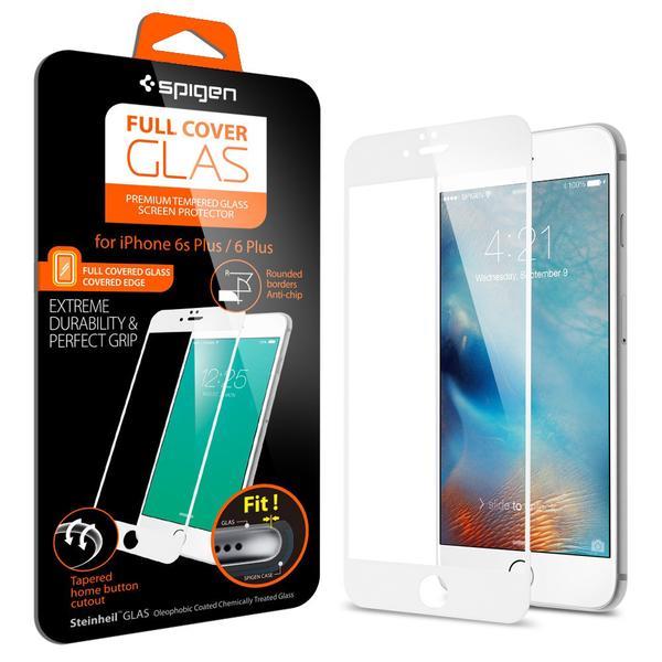 Spigen Full Cover Glass Iphone 6 Plus - 6s Plus - White