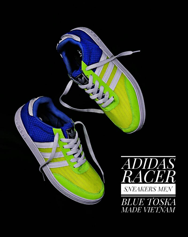 adidas racer sneakers men blue tosca Murah