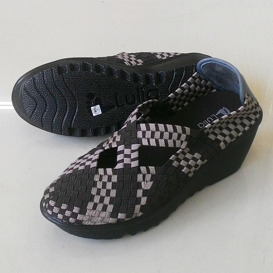 Multi Sepatu Wanita Anyaman Rajut Lulia Kiddo 016 Wedges Update Anyam Flat Include Box Semua Tipe