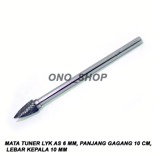 Mata Tuner LYK As 6 Mm, Panjang Gagang 10 Cm, Lebar Kepala 10 Mm